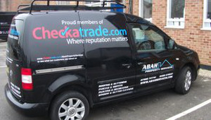 Free, professional van signwriting