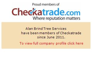 Checkatrade information for Alan Brind Tree Services
