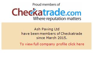 Checkatrade information for Ash Paving Ltd