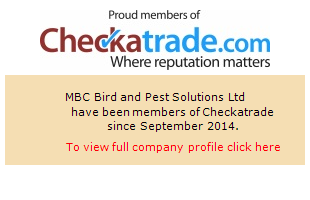 Checkatrade information for MBC Bird and Pest Solutions Ltd
