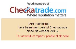 Checkatrade information for RMH Plastering