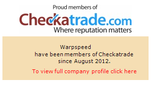 Checkatrade information for Warpspeed