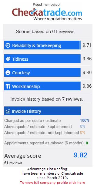 Checkatrade information for AdvantageFlatRoofing