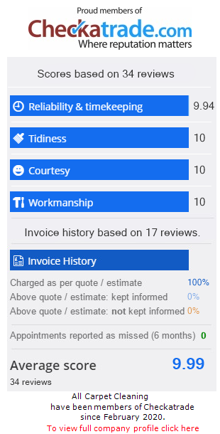 Checkatrade Rating for AllCarpetCleaning