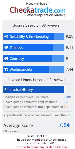 Checkatrade Rating for AlstoheatLtd