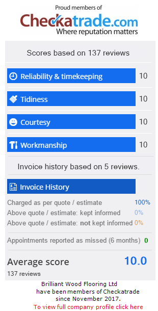 Checkatrade Rating for BrilliantWoodFlooringLtd