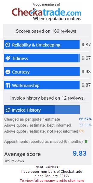 Checkatrade Rating for NeatBuilders