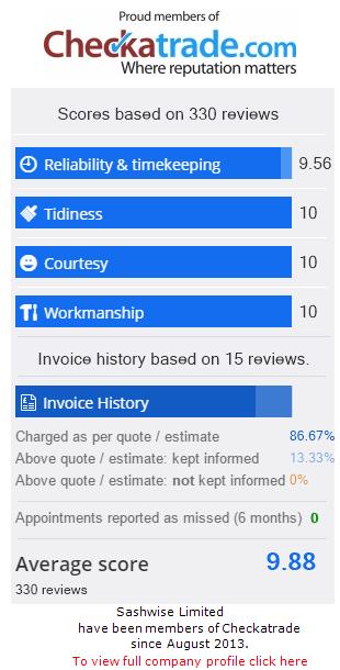 Checkatrade Rating for SashWise