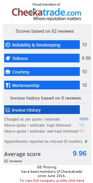 Checkatrade Rating for SbFlooringBicester