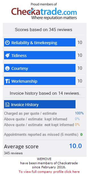 Checkatrade Rating for Wemove