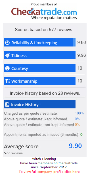 Witch Cleaning Ltd Feedback Scores