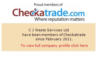 Checkatrade information for C J Waste Services Ltd
