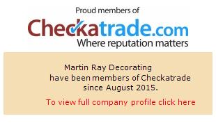 Checkatrade information for MartinRayDecorating
