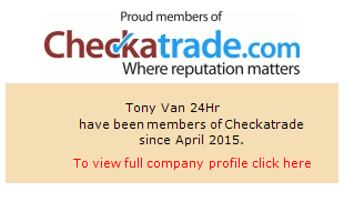 Checkatrade information for Tony Van 24Hr
