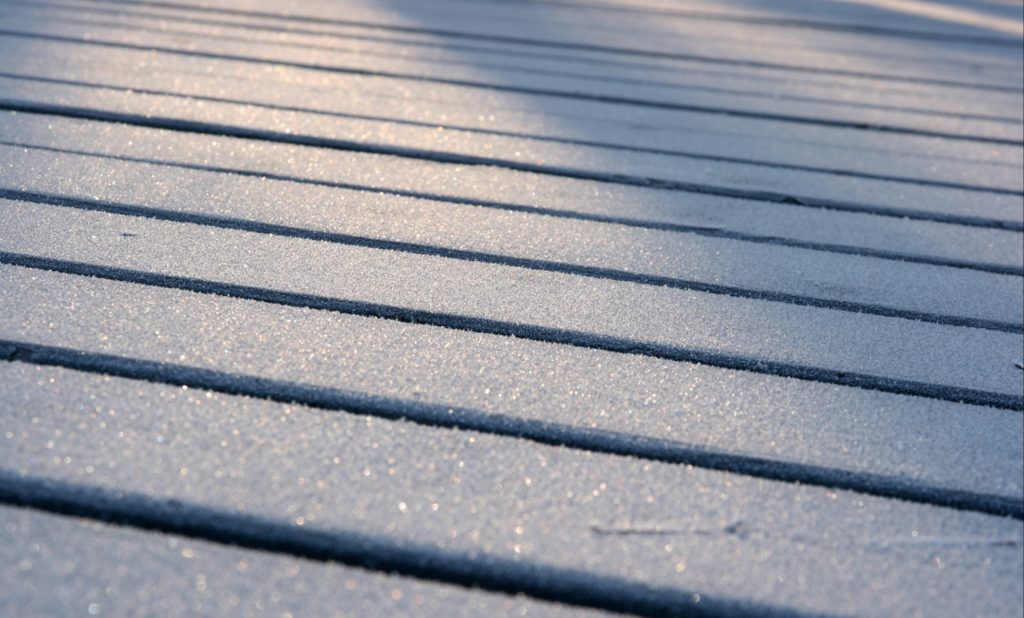 Clean decking looks new