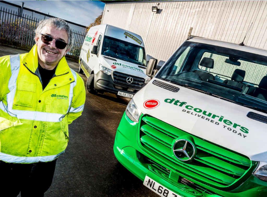 Checkatrade member posing with new Mercedes Sprinter