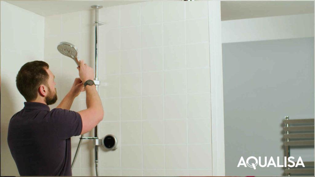Shower headset adjustment
