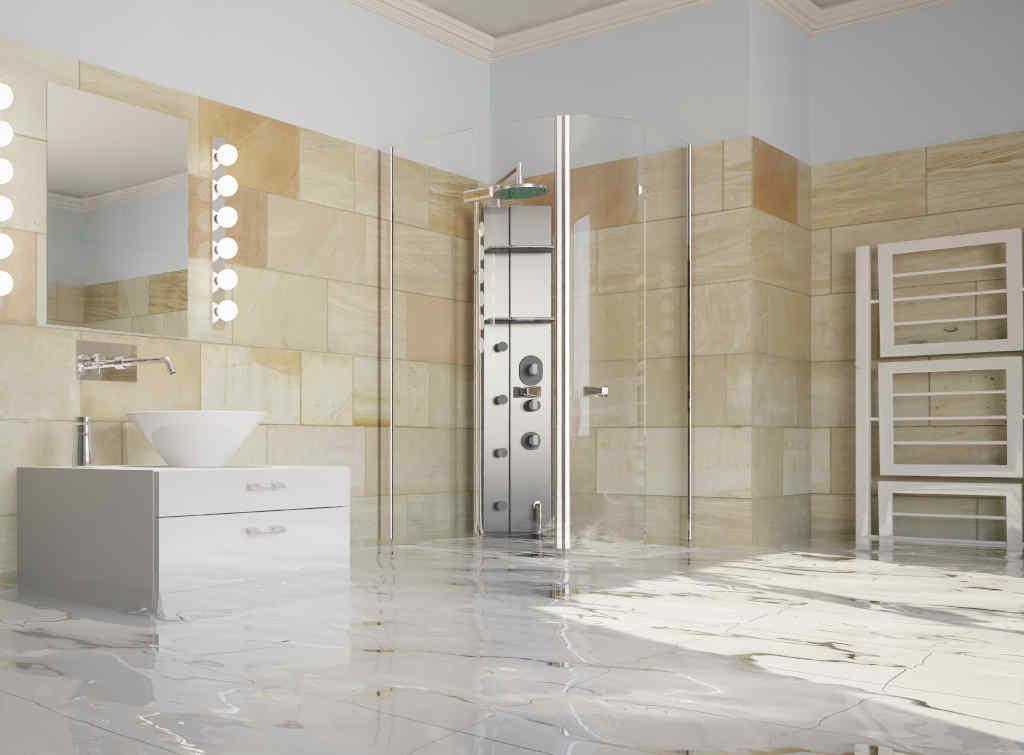 natural stone wet room flooring