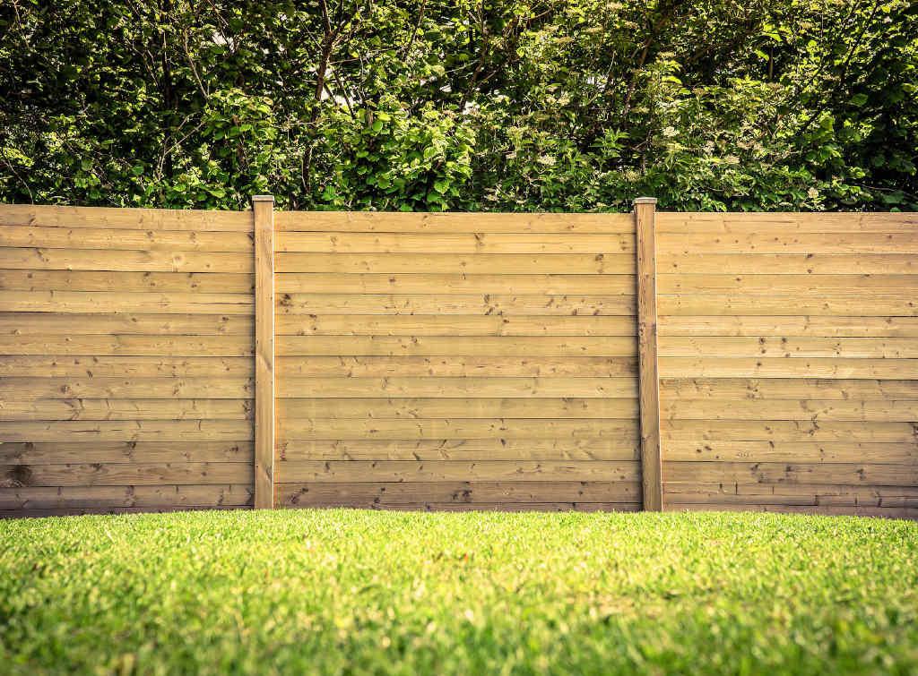 simple fence low maintenance garden