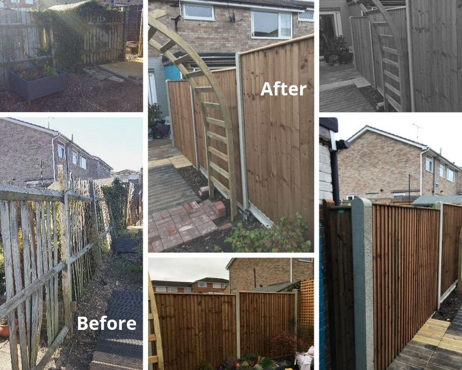 fencing installation before and after