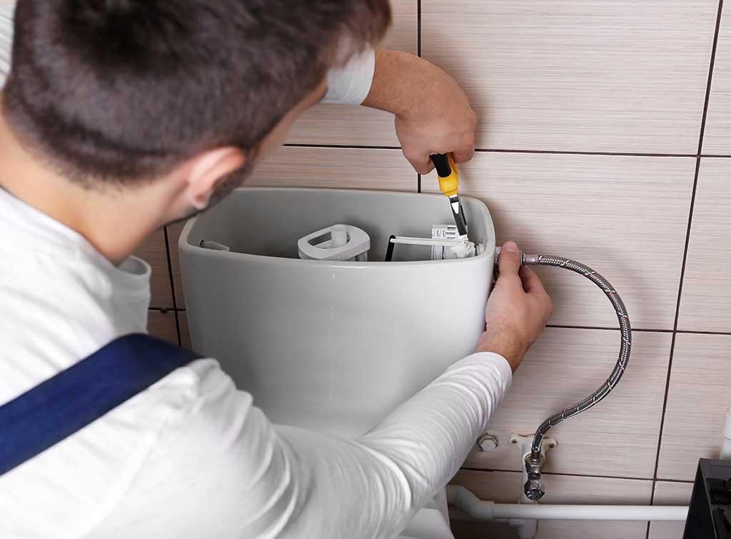 fixing running toilet