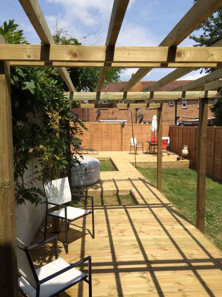 Decking on grass, getting a professional finish