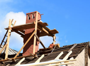 Chimney repair on roof