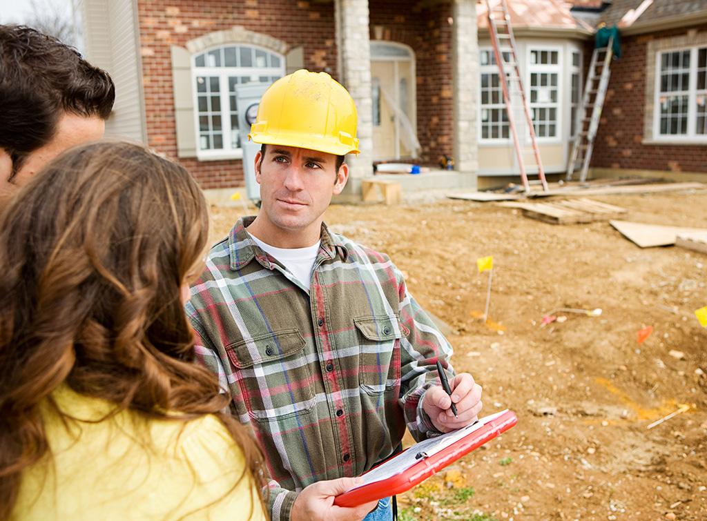 Builder asking couple to sign written contract