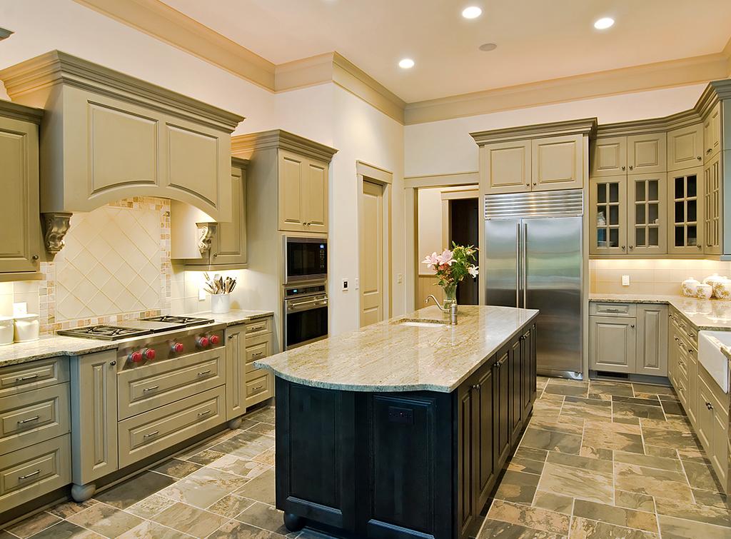 Kitchen tiled floor