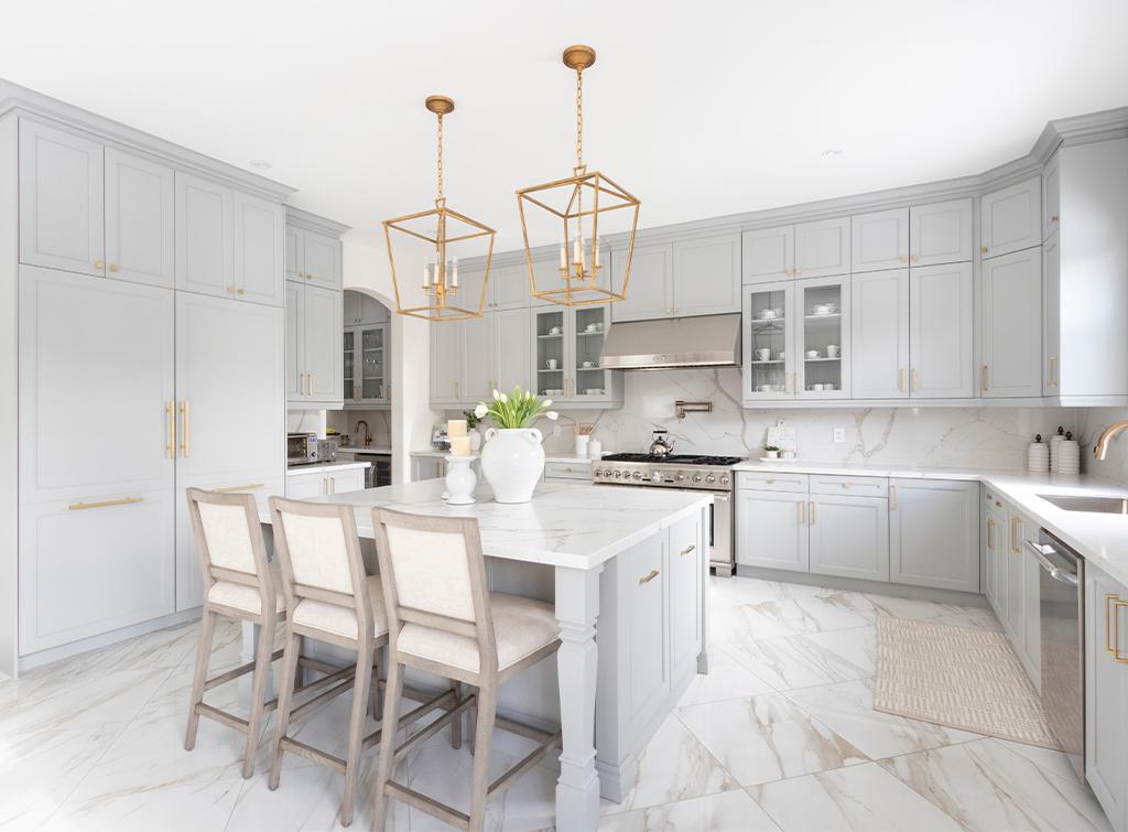 Marble kitchen floor