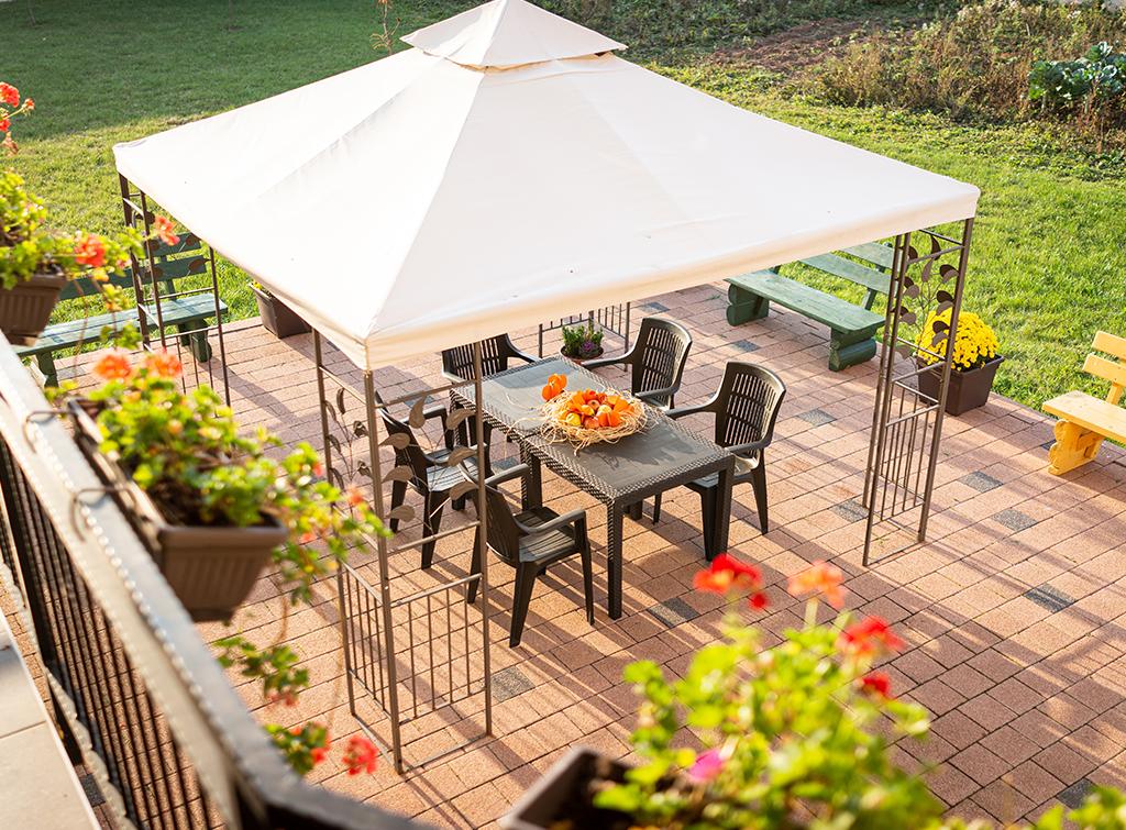 Gazebo for outdoor dining