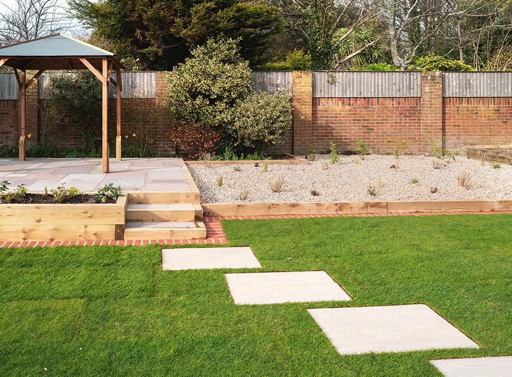 Creating a raised patio
