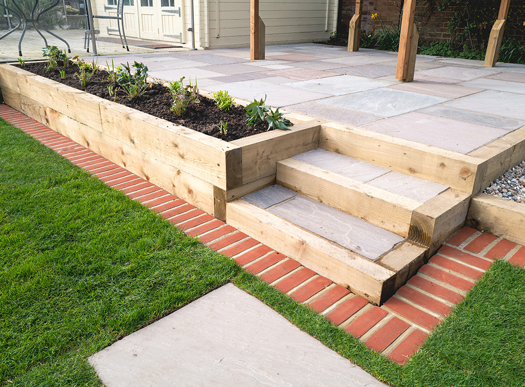 Perfect that patio | Garden paving ideas | Checkatrade Blog on Raised Garden Patio Ideas id=59579