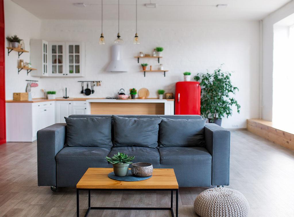 Open plan kitchen living room