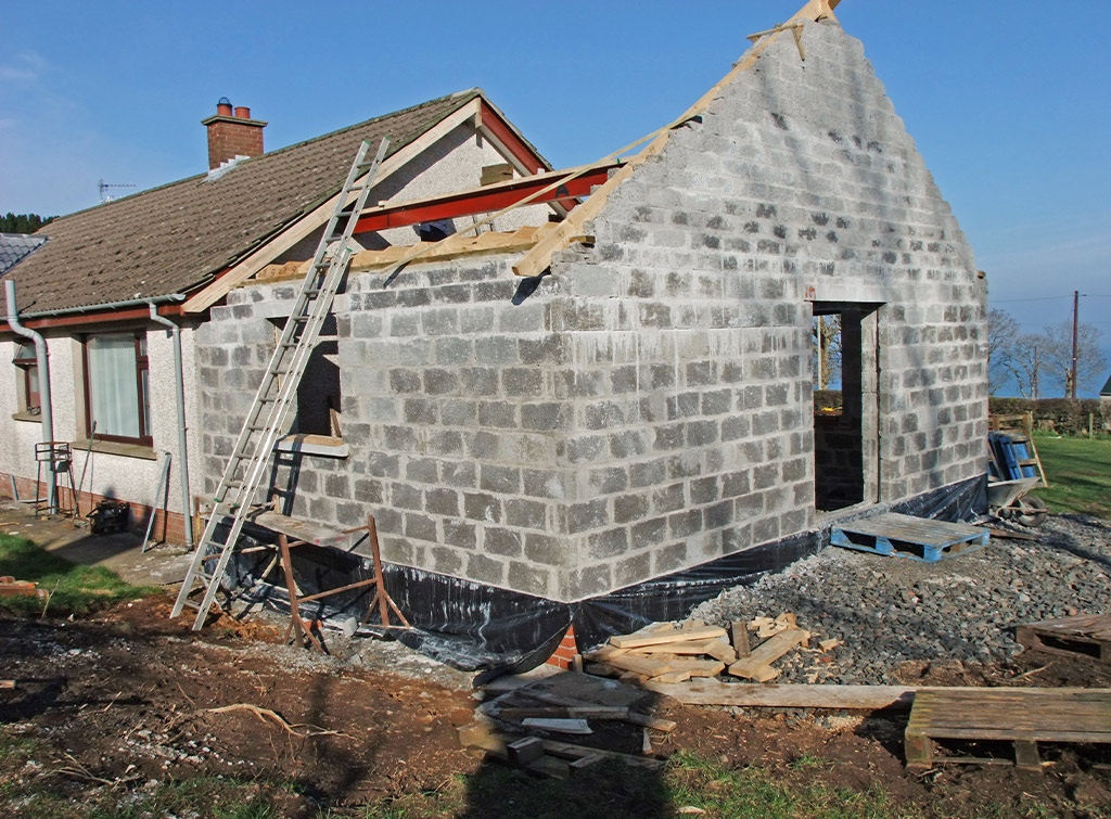 Bungalow extension in progress