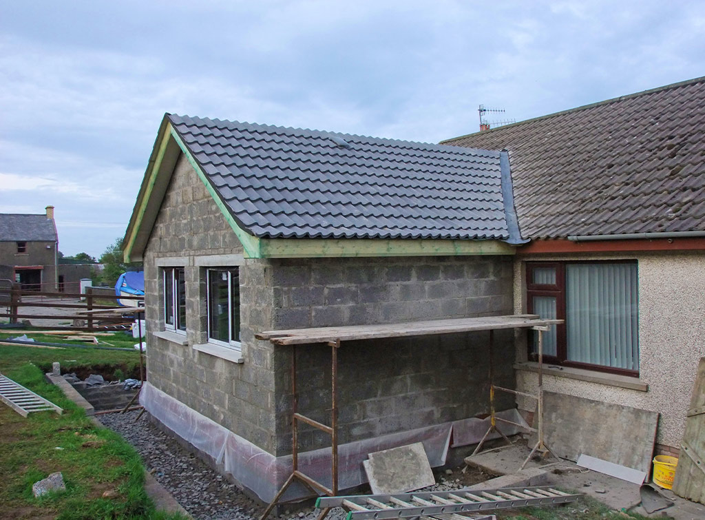 Completed bungalow extension