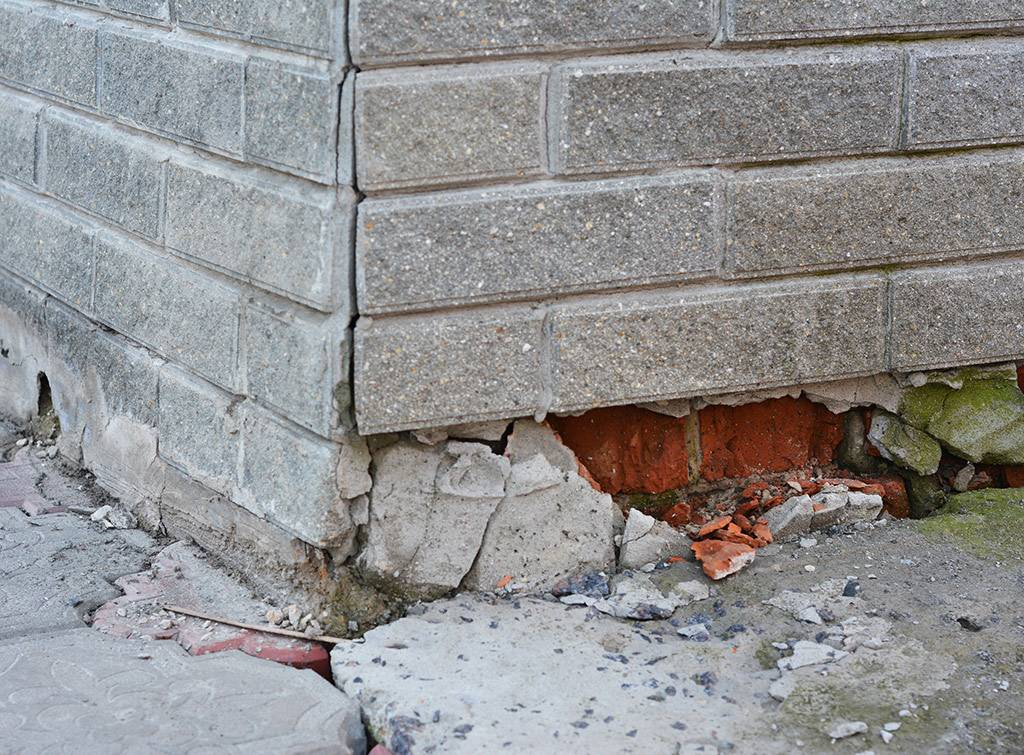 Subsidence repair cost for external wall