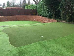 Woodcote's Artificial grass putting green
