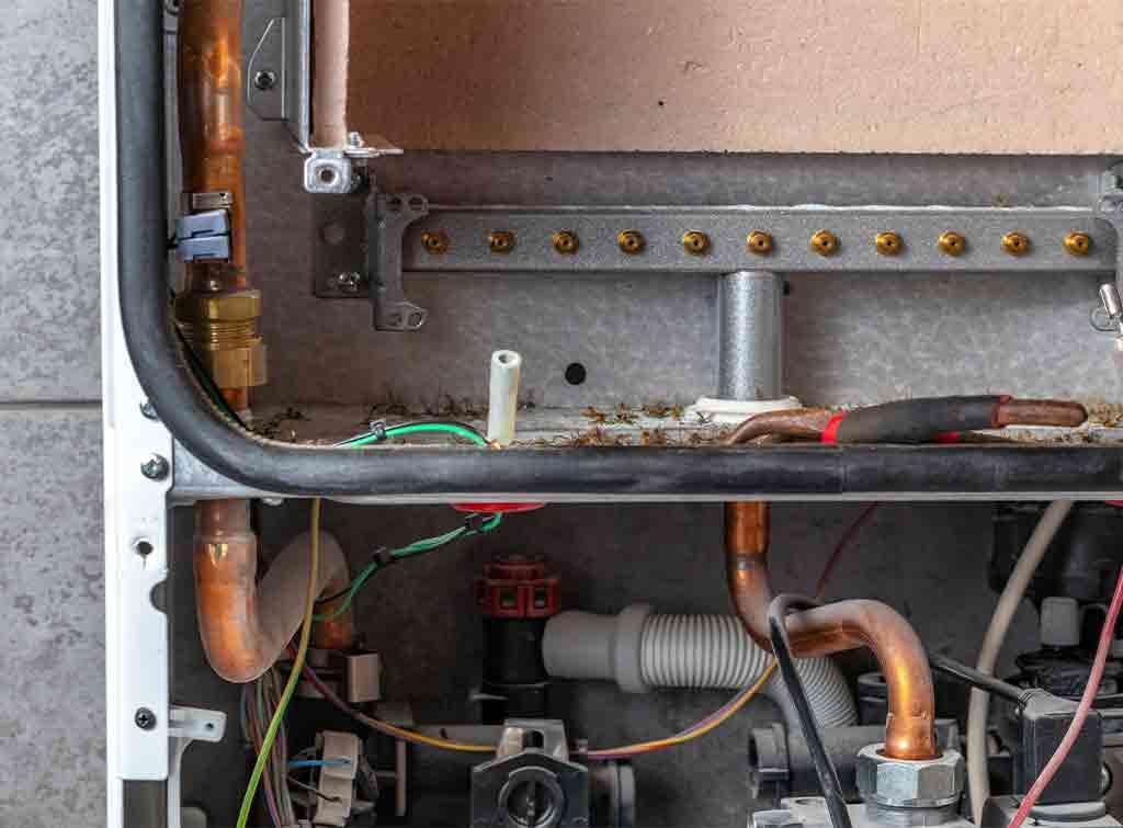 Inside of a boiler