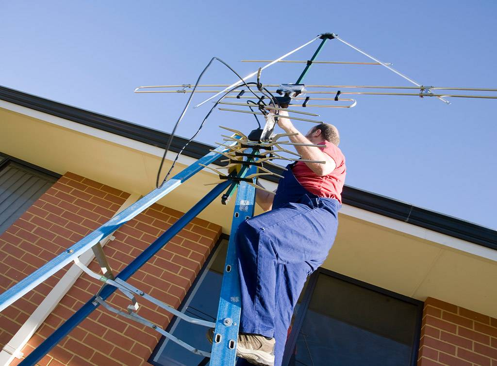 Outdoor tv aerial installation cost