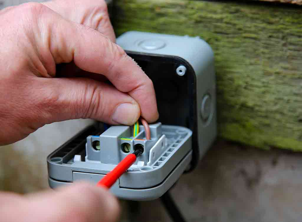 Cost to fit and wire outdoor socket