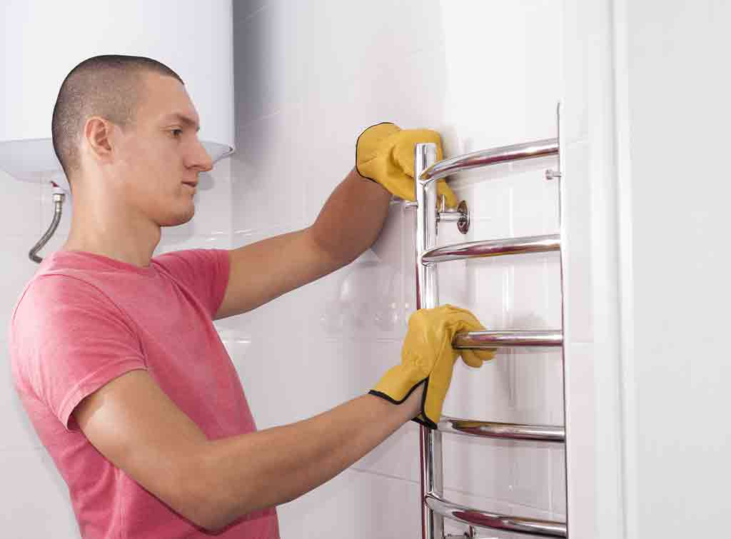 Heated towel rail fitting cost