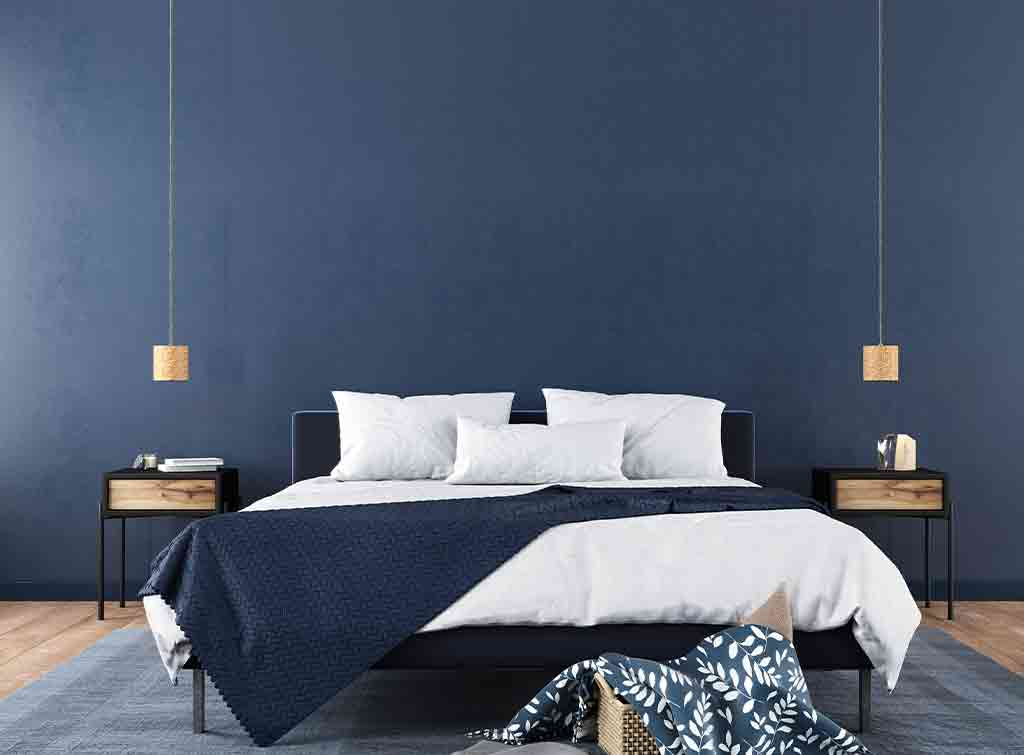 Modern bedroom colour scheme idea