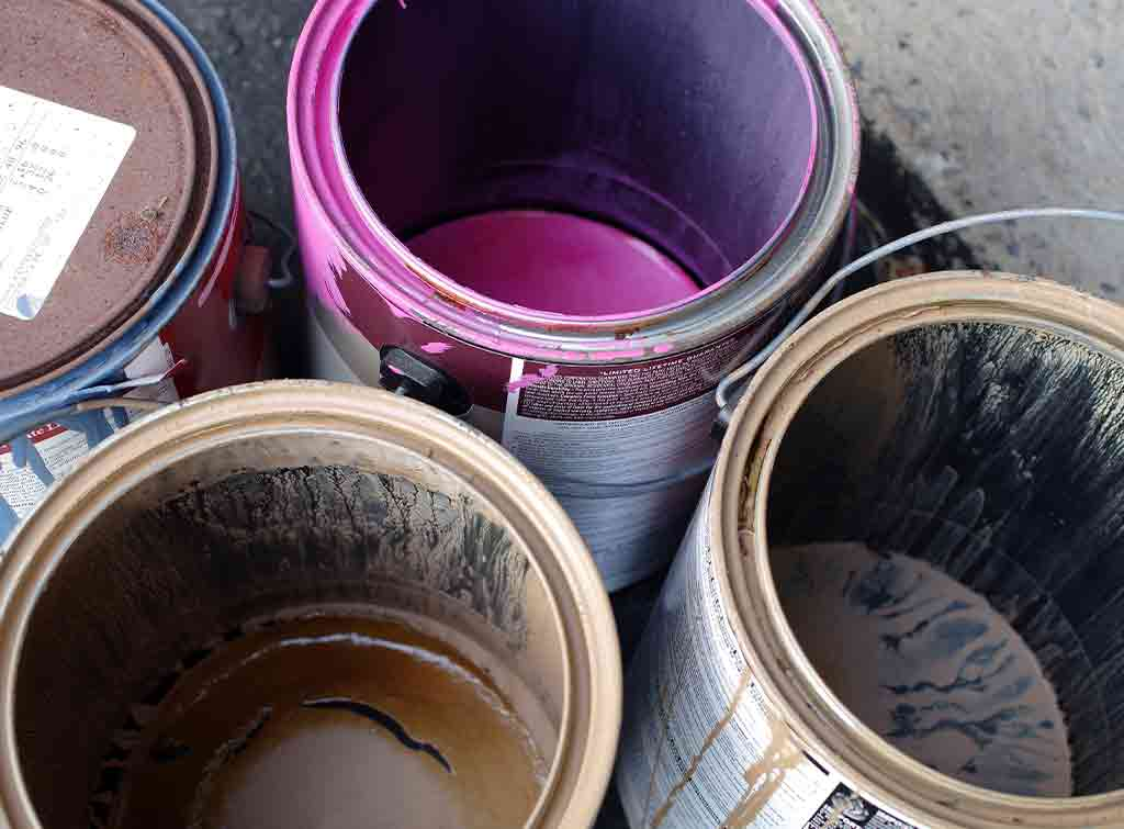 Old paint disposal