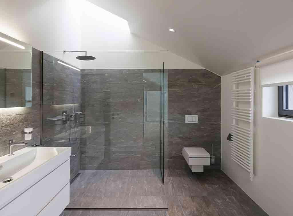 Open walk in shower room idea