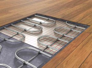 how to install underfloor heating under wooden floor