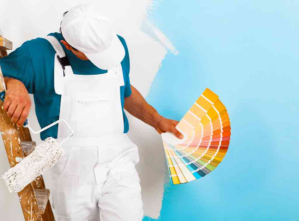 Paint a room professionally