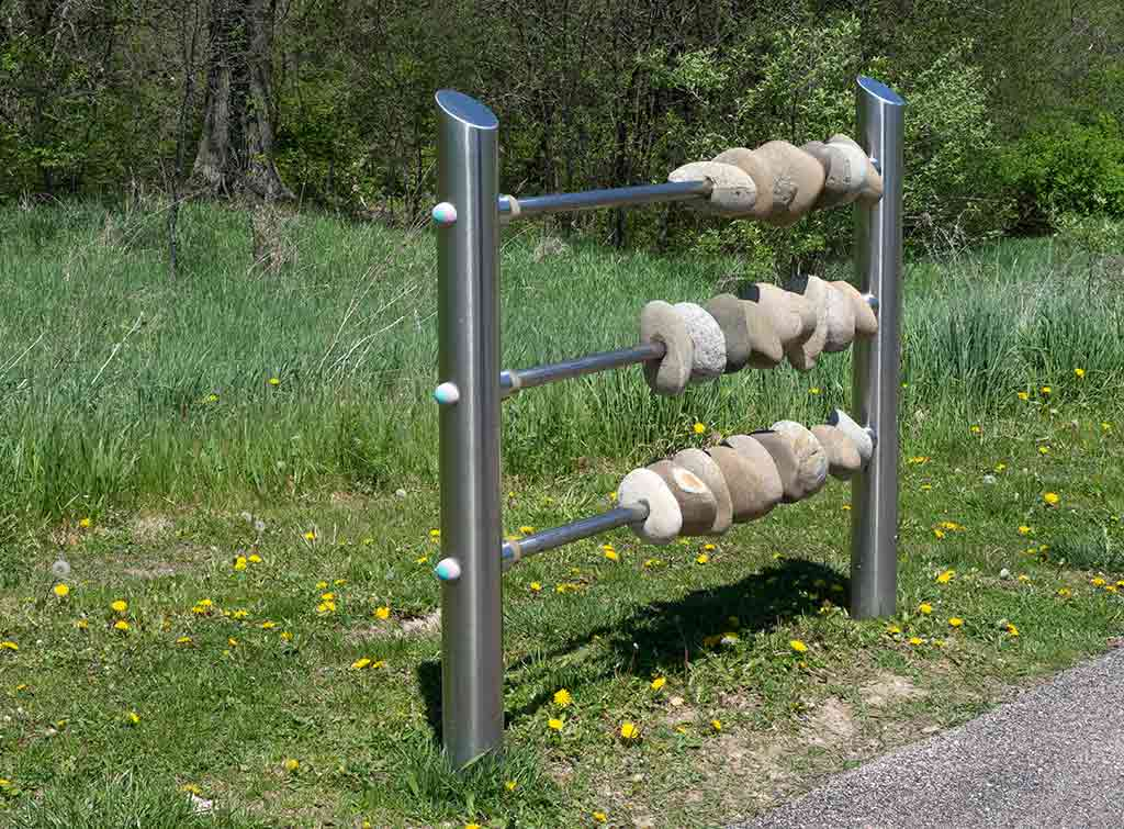 Play rock abacus for sensory garden