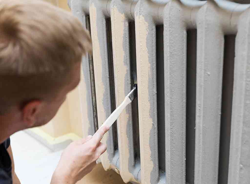 White radiator paint