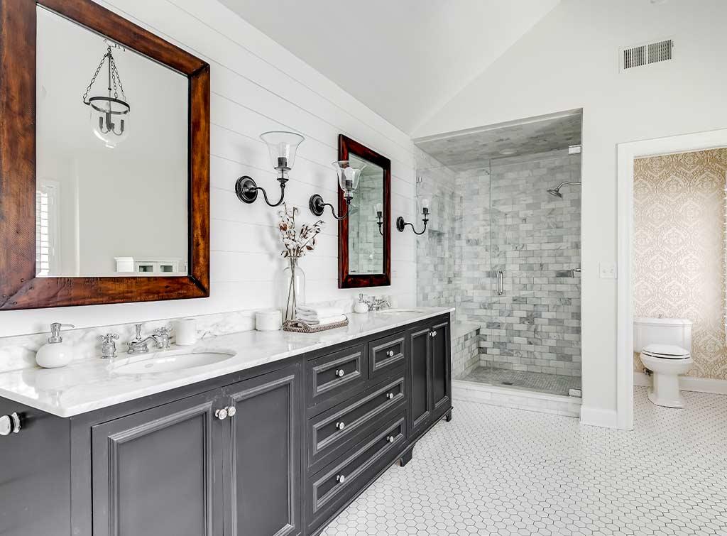 Grey vanity bathroom ideas
